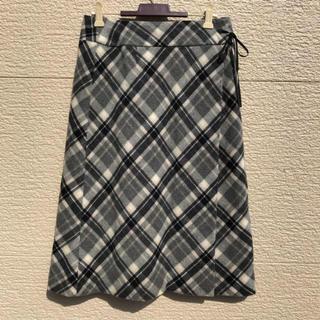 ローラアシュレイ(LAURA ASHLEY)のローラアシュレイ スカート 白 黒 ベージュ グレー 9(ひざ丈スカート)