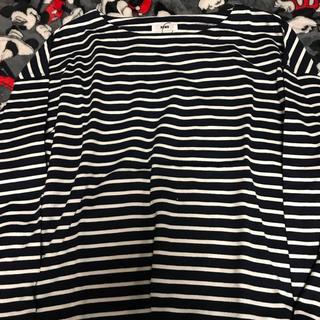 ロデオクラウンズワイドボウル(RODEO CROWNS WIDE BOWL)のロデオクラウンズ   ロンT 柄ネイビー(Tシャツ(長袖/七分))