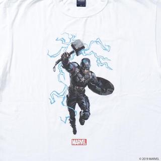 アップルバム(APPLEBUM)のAPPLEBUM × MARVEL キャプテン Tシャツ 限定品(Tシャツ/カットソー(半袖/袖なし))