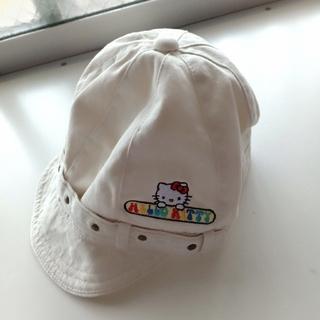 ハローキティ(ハローキティ)の【美品】ハローキティ帽子(3-6歳着用可) サイズ52cm(帽子)