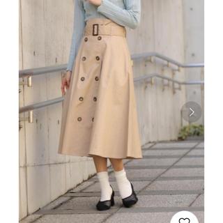 ミスティウーマン(mysty woman)のmysty woman のトレンチ風スカート(ロングスカート)