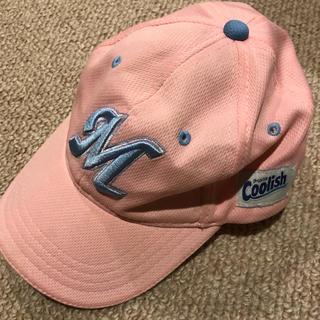 チバロッテマリーンズ(千葉ロッテマリーンズ)のマリーンズピンク帽子こども用(帽子)