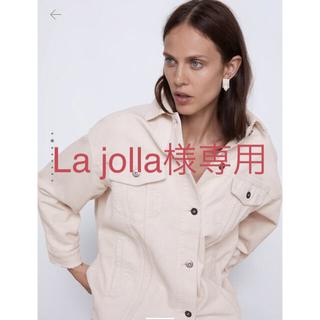 ZARA - ポケット付きコーデュロイ地シャツジャケット