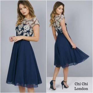 Chi Chi London - chichilondonのネイビーのドレス