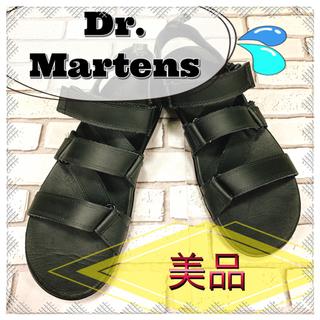 ドクターマーチン(Dr.Martens)の【美品】Dr. Martens ドクターマーチン サンダル 黒 ブラック(サンダル)