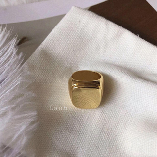 BEAUTY&YOUTH UNITED ARROWS - j251.signet ring(gold)