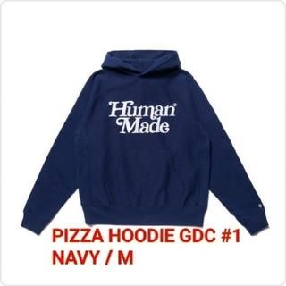ジーディーシー(GDC)のGDC PIZZA HOODIE GDC #1 NAVY / M(9)再(パーカー)