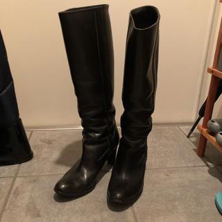 シップス(SHIPS)のシップス ブラック ロングブーツ  サイズ37 (ブーツ)