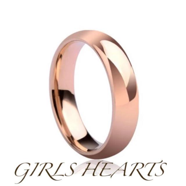 送料無料17号ピンクゴールドサージカルステンレスシンプルリング指輪値下残りわずか レディースのアクセサリー(リング(指輪))の商品写真