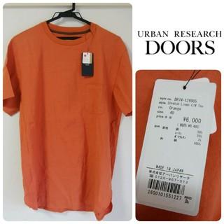 ドアーズ(DOORS / URBAN RESEARCH)の新品タグ付*DOORS ストレッチ リネン Tシャツ(Tシャツ/カットソー(半袖/袖なし))