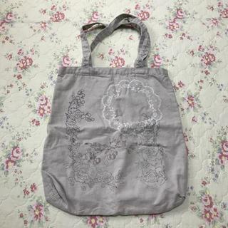 サマンサモスモス(SM2)のSM2 リネン バッグ エコバッグ ショッピングバッグ ナチュラル (エコバッグ)