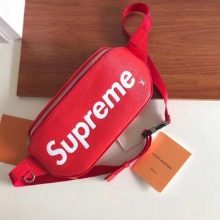 Supreme - 赤色 Supreme X ルイヴィトン ウエストポーチ 新品 AA