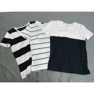 ムジルシリョウヒン(MUJI (無印良品))のMUJIモノトーンTシャツMサイズ3枚セットレディース(Tシャツ(半袖/袖なし))