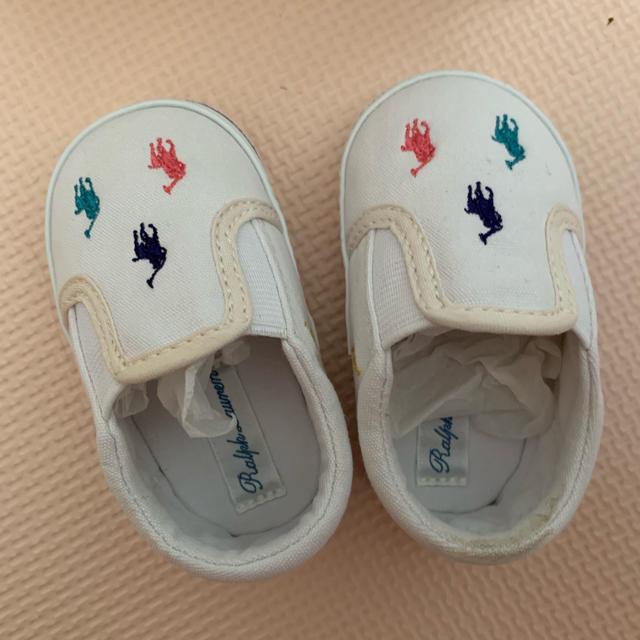 Ralph Lauren(ラルフローレン)のラルフローレン ファーストシューズ 11センチ キッズ/ベビー/マタニティのキッズ靴/シューズ (15cm~)(スリッポン)の商品写真