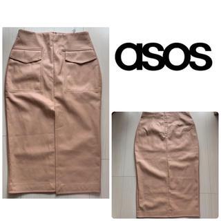 asos - 新品タグ付き ASOS ピンクベージュスカート