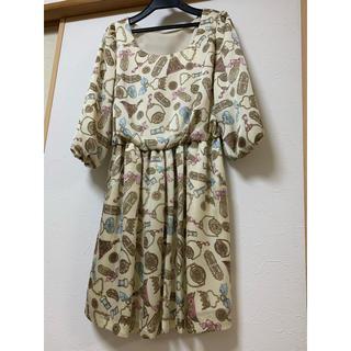 ユニバーバルミューズ(UNIVERVAL MUSE)の日本製 ユニバーバルミューズ 七分袖ワンピース(ひざ丈ワンピース)