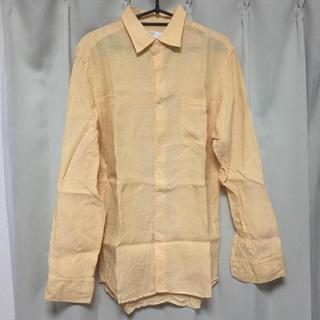 ユニクロ(UNIQLO)のUNIQLO 長袖 オレンジ リネンシャツ(シャツ)