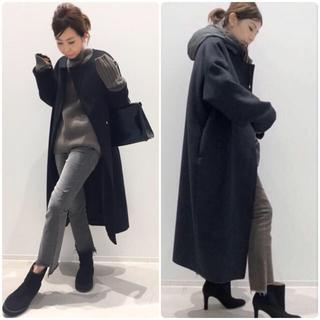 L'Appartement DEUXIEME CLASSE - アパルトモン購入★Oversized LAMB Coat ブラック