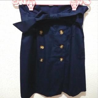 シマムラ(しまむら)の新品 しまむら ネイビー トレンチ タイト スカート♥️L GU 夢展望(ミニスカート)