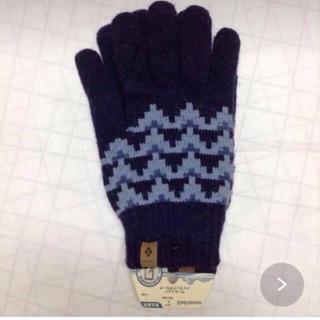 モンベル(mont bell)のモンベル ウールニットハイランドグローブ 男女兼用 インディゴ(手袋)