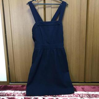 マジェスティックレゴン(MAJESTIC LEGON)の紺色サロペットスカート(サロペット/オーバーオール)