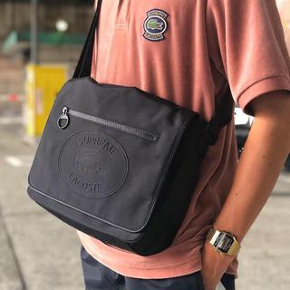 シュプリーム(Supreme)の黒 supreme lacoste messenger bag black 新品(メッセンジャーバッグ)