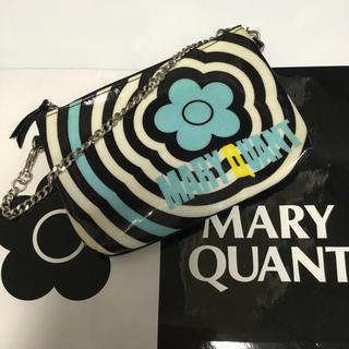 マリークワント(MARY QUANT)のマリークワント チェーン付きポーチ ブルー(ポーチ)