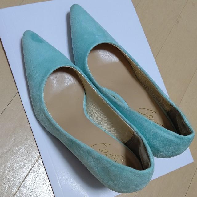 スエードパンプス ブルー レディースの靴/シューズ(ハイヒール/パンプス)の商品写真