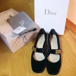 Christian Dior - 2018 dior パンプス バレエシューズ バレリーナ  ベロア ベルベット
