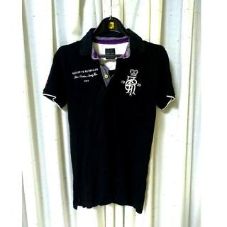 ZARA - 【ラグビーモチーフ】ZARA ポロシャツ 黒 Sサイズ