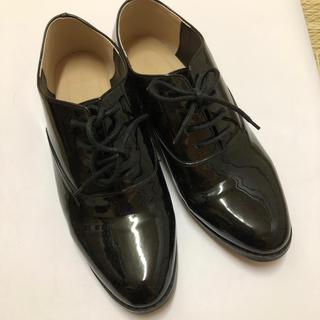 グローバルワーク(GLOBAL WORK)のグローバルウォーク エナメル 黒 シューズ(ローファー/革靴)
