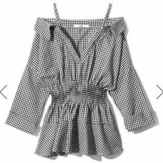グレイル(GRL)のオフショルギンガムチェックシャツ(シャツ/ブラウス(長袖/七分))