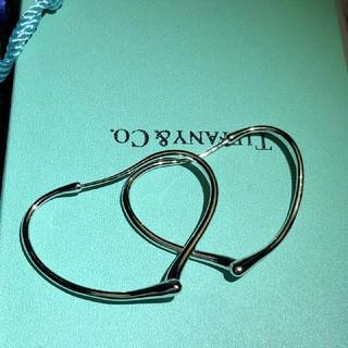 ティファニー(Tiffany & Co.)のティファニー オープンハート フープ ピアス M(ピアス)