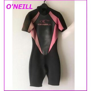 オニール(O'NEILL)のオニール 半袖 ウエットスーツ スプリング 黒×ピンク S 女性用 春秋用(サーフィン)
