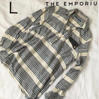 ジエンポリアム(THE EMPORIUM)のTHE EMPORIUM  長袖シャツ  L(シャツ/ブラウス(長袖/七分))