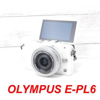 OLYMPUS - ❤️キュートなホワイト❤️スマホに送れる❤️OLYMPUS E-PL6