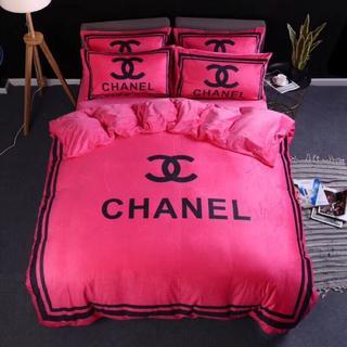 シャネル(CHANEL)のCHANEL ジバンシー ベッドセット 4点セット寝具掛け布団カバー(シーツ/カバー)