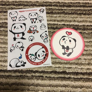 ラクテン(Rakuten)の【取り置き】楽天お買い物パンダ ステッカー&コースター(キャラクターグッズ)
