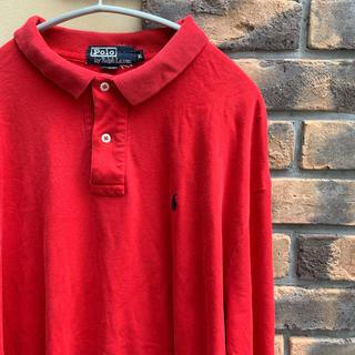 Ralph Lauren - 90s ラルフローレン ポロシャツ ラガーシャツ ポロラルフローレン 赤