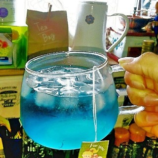 バタフライピーティーバッグ 10パック 青い紅茶(茶)
