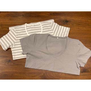 ムジルシリョウヒン(MUJI (無印良品))の無印 Tシャツ未使用2枚セット(Tシャツ(半袖/袖なし))