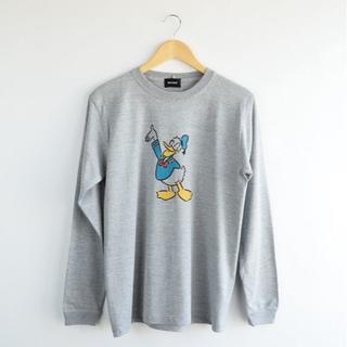 ビームス(BEAMS)の新品 BEAMS 長場雄 コラボ Disney ドナルド 長袖 Tシャツ L(Tシャツ(長袖/七分))