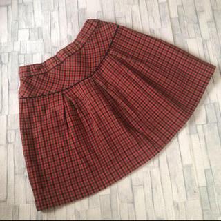 familiar - 【お値下げ中】 ファミリア  チェック スカート 120