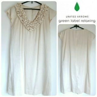 グリーンレーベルリラクシング(green label relaxing)の美品*green label relaxing ワンピースドレス(ミディアムドレス)
