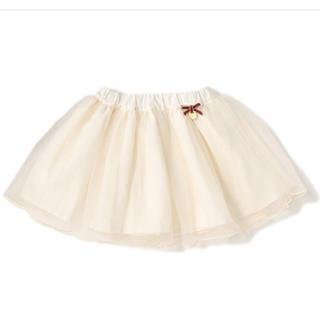 petit main - プティマイン  リボンつきチュールスカート