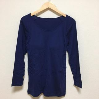 A011 新品 レディース 大きいサイズ LL パッド付き長袖インナー(アンダーシャツ/防寒インナー)