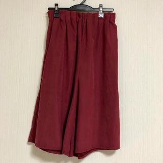シマムラ(しまむら)のベリーピンク色ガウチョ(カジュアルパンツ)