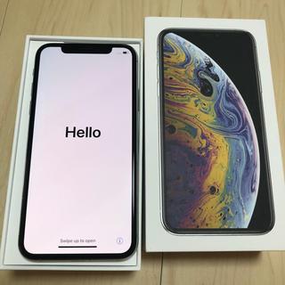 iPhone - 美品 iPhoneXS 64GB SIMフリー シルバー 白 Applecare