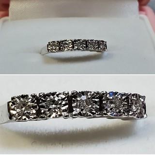 【ひとちゃん様ご売約済】K18WG ダイヤモンドリング 0.10ct(リング(指輪))