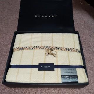 BURBERRY - バーバリー シール織綿毛布